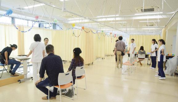 手浴・血圧測定体験